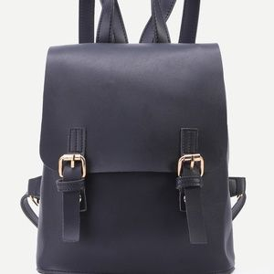Handbags - faux leather mini buckle backpack